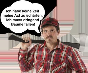 Axt-Schärfen
